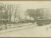 Main Street fire, with trolley