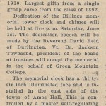 GMC Gets new electric clock with chimes