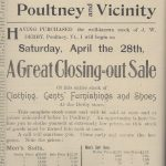 Sale in 1906