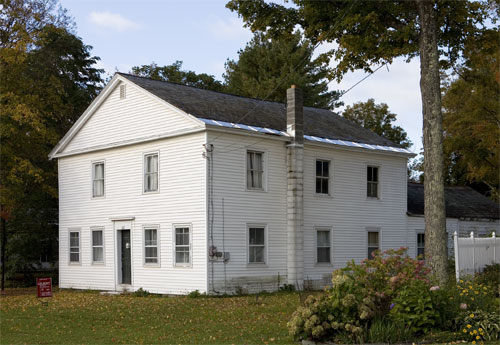 Thompson House, East Poultney. Former Congregationalist meetinghouse moved from the Green to make way for the new Baptist Church.