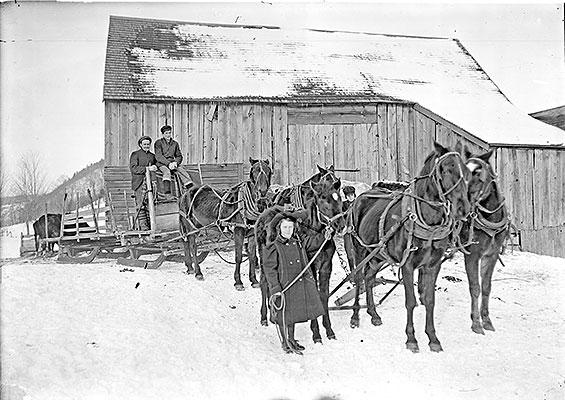 Sleigh wagon, circa 1900