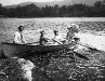 Family boating on Lake St. Catherine, circa 1900