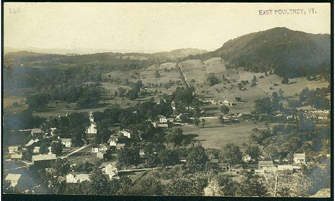 East Poultney, aerial view