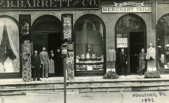 F B Barrett store, 1892