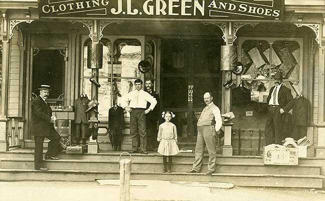 J.L. Green store, circa 1900