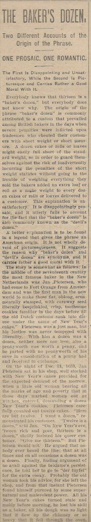 Bakers Dozen June 14 1907