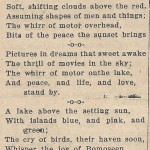 Poem of Sunset at Bomoseen July 25, 1940